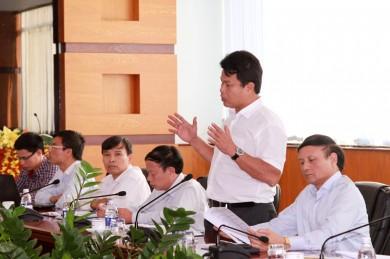 Đ/c Đỗ Nga Việt - Ủy viên BCS đảng Bộ GTVT, Chủ tịch Công đoàn GTVT Việt Nam phát biểu tại Buổi họp
