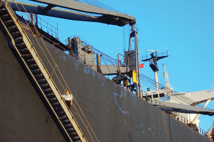 Hoa tiêu lên tàu làm nhiệm vụ