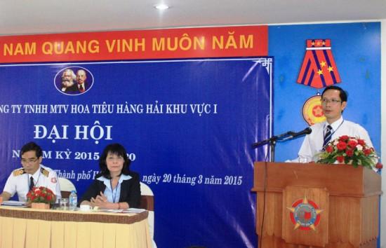 Đ/c Phạm Quốc Súy – Bí thư Đảng ủy Tổng công ty phát biểu chỉ đạo tại Đại hội.
