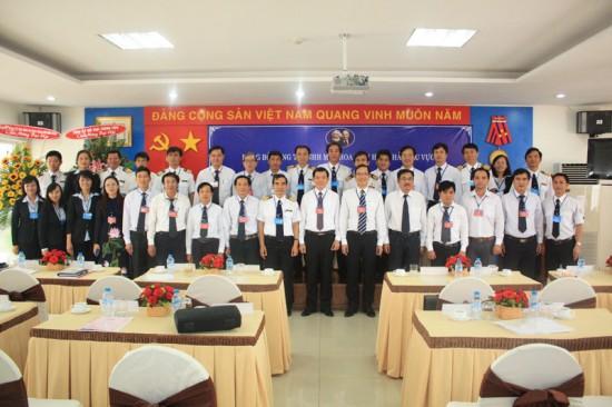 Đảng bộ Công ty chụp hình lưu niệm sau Đại hội.