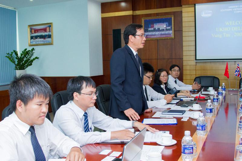 Ông Phạm Quốc Súy - TGĐ VMS-South phát biểu tại Buổi làm việc