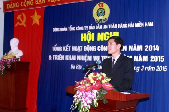 Đ/c Dương Thế Nam - Chủ tịch Công đoàn VMS-South phát biểu tại Hội nghị