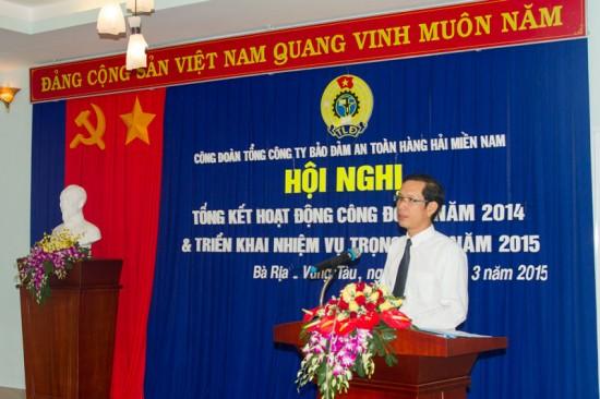 Đ/c Phạm Quốc Súy - Bí thư Đảng ủy, TGĐ VMS-South phát biểu chỉ đạo tại Hội nghị
