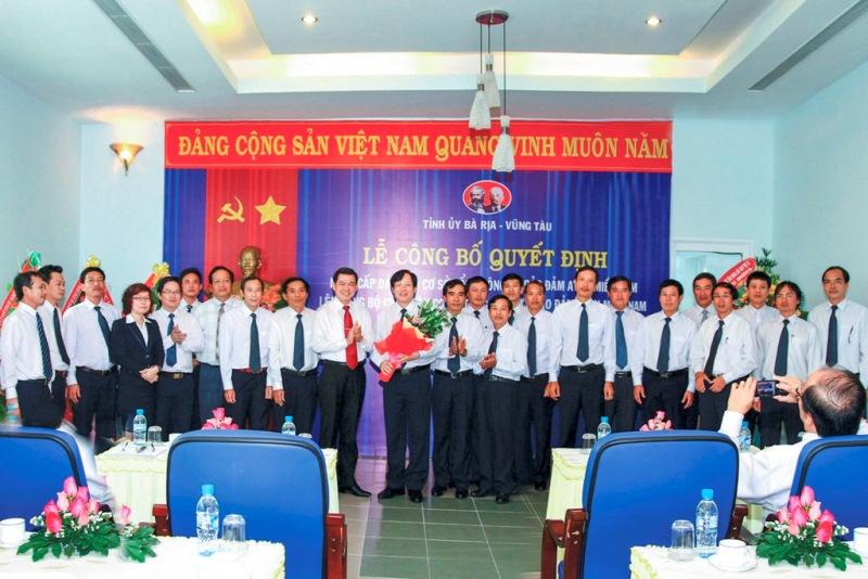 Lễ công bố quyết định nâng cấp Đảng bộ Cơ sở TCT lên Đảng bộ cấp trên cơ sở năm 2012