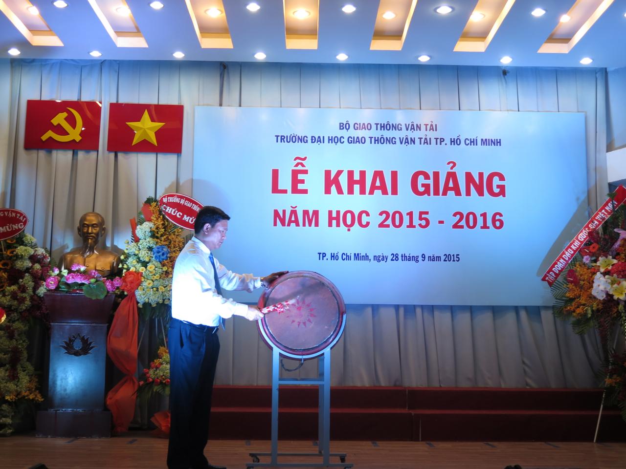 Bộ trưởng Đinh La Thăng dự Lễ khai giảng Đại học GTVT TP.HCM năm học 2015-2016