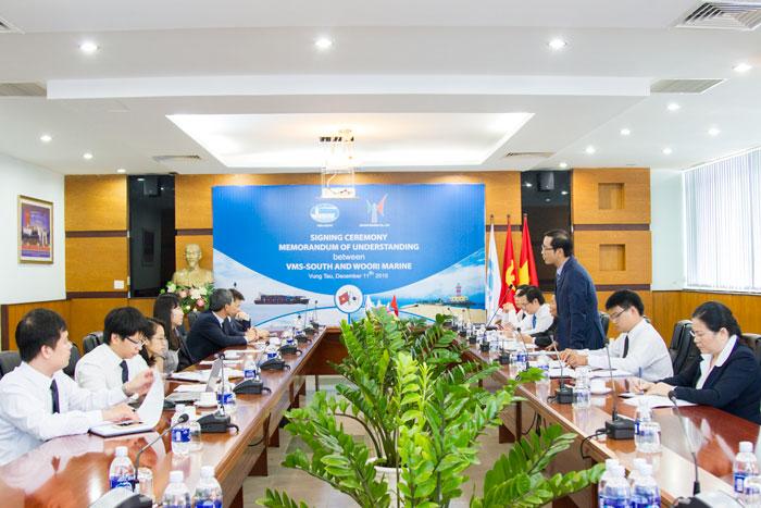 Ông Phạm Quốc Súy - TGĐ VMS-South phát biểu tại Lễ ký kết