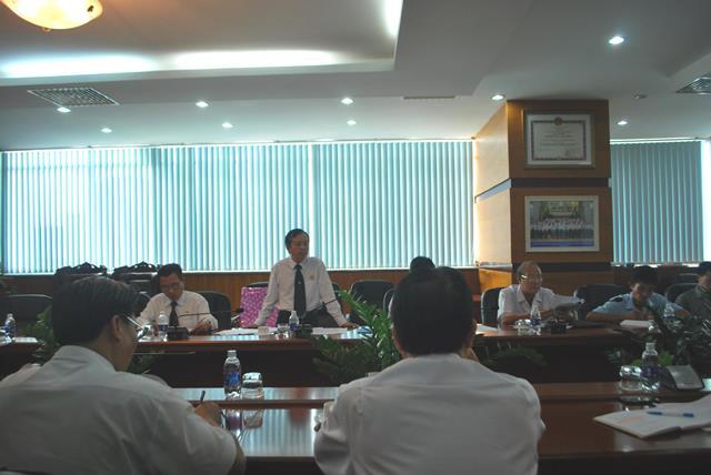 Đồng chí Phạm Đăng Lâu, Chủ tịch Hội CCB Tổng công ty, phát biểu chỉ đạo tại hội nghị