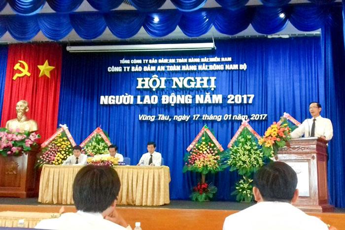 Ông Phạm Quốc Súy, TGĐ VMS-South phát biểu chỉ đạo tại Hội nghị
