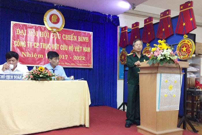 Đ/c Phạm Đăng Lâu – Chủ tịch Hội CCB Tổng công ty phát biểu chỉ đạo tại Đại hội