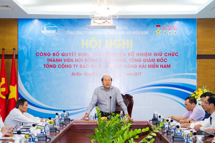 Thứ trưởng Bộ GTVT Nguyễn Văn Công phát biểu tại Hội nghị