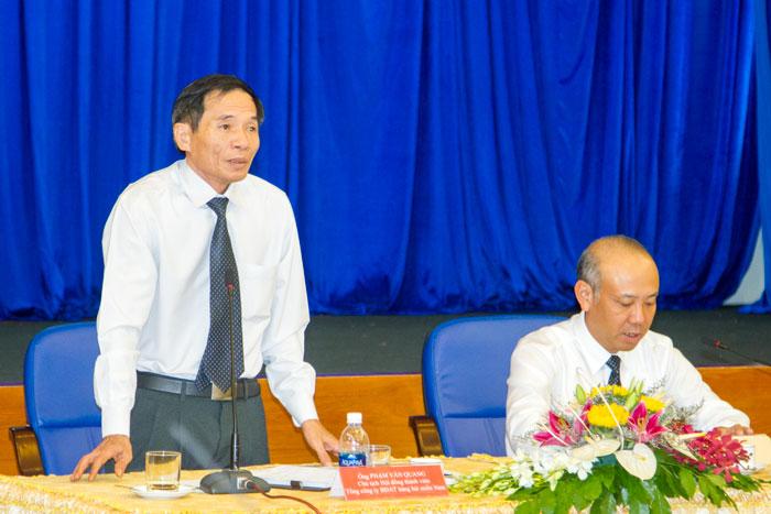 Ông Phạm Văn Quang, Chủ tịch HĐTV Tổng công ty phát biểu chỉ đạo tại Hội nghị