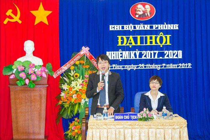 Đ/c Phạm Quang Giáp, Bí thư Chi bộ Văn phòng điều hành Đại hội