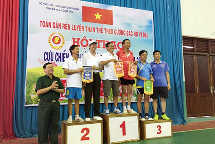 Hội CCB VMS-South tham dự Hội thao CCB tỉnh Bà Rịa-Vũng Tàu năm 2017
