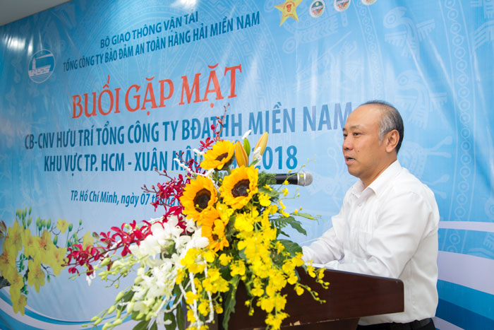 Ông Bùi Thế Hùng, TGĐ VMS-South phát biểu tại Buổi họp mặt
