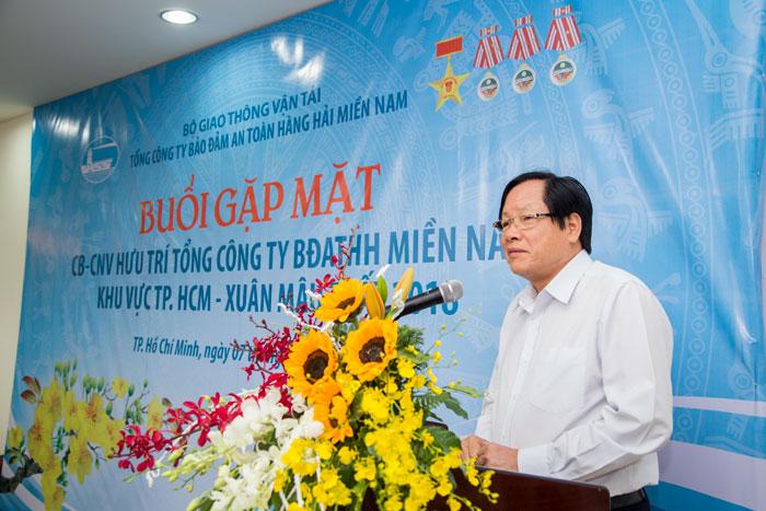 Ông Phạm Đình Vận, Nguyên Bí thư Đảng ủy, TGĐ VMS-South phát biểu tại Buổi họp mặt