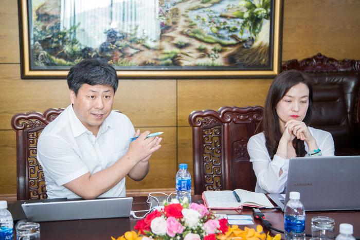 Ông Sang Jae Lee – Trưởng phòng nghiên cứu GMT phát biểu tại buổi làm việc