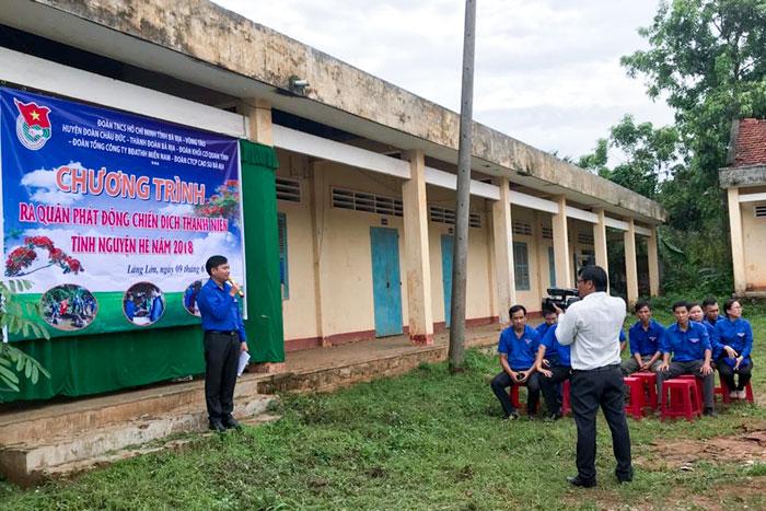 Đoàn Thanh niên VMS-South tham gia Lễ ra quân Chiến dịch thanh niên tình nguyện hè 2018