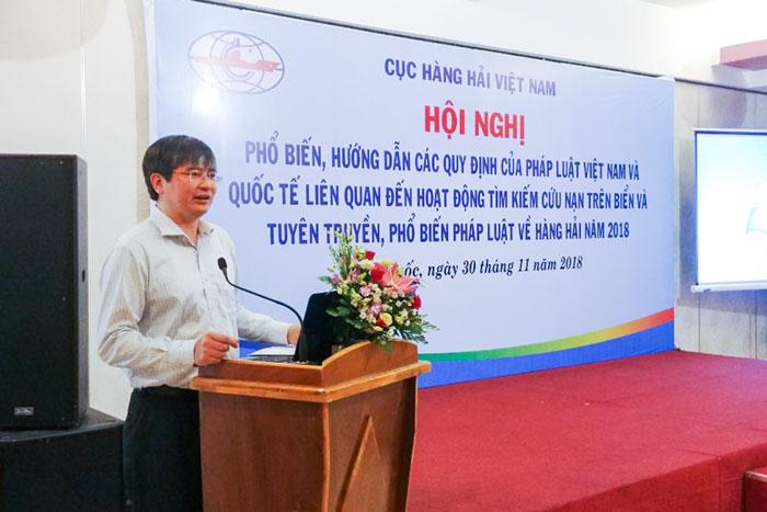 Hội nghị Phổ biến, hướng dẫn các quy định của pháp luật Việt Nam và Quốc tế liên quan đến hoạt động tìm kiếm cứu nạn trên biển và tuyên truyền, phổ biến về pháp luật hàng hải năm 2018