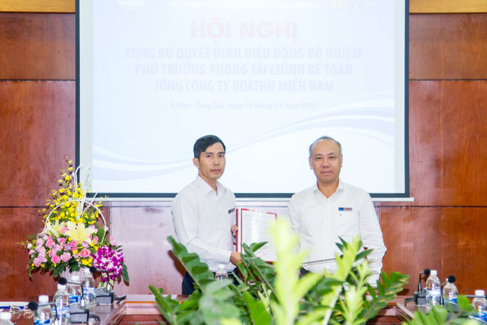 VMS-South điều động, bổ nhiệm chức danh Phó Trưởng phòng Tài chính – Kế toán