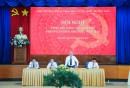 Đ/c Bùi Thế Hùng, Bí thư Đảng ủy Tổng công ty phát biểu tại Hội nghị
