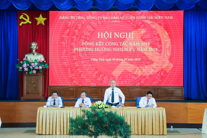 (Vietnamese) Đảng ủy Tổng công ty Bảo đảm an toàn hàng hải miền Nam: Tổng kết công tác Đảng năm 2018