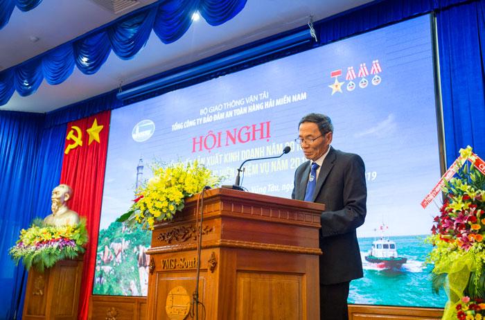 Ông Phạm Văn Quang, Chủ tịch HĐTV Tổng công ty phát biểu tại Hội nghị