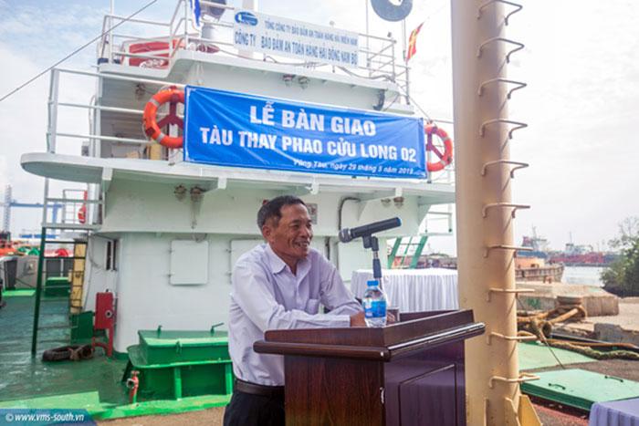 Ông Phạm Văn Quang, Chủ tịch HĐTV Tổng công ty phát biểu tại Lễ bàn giao