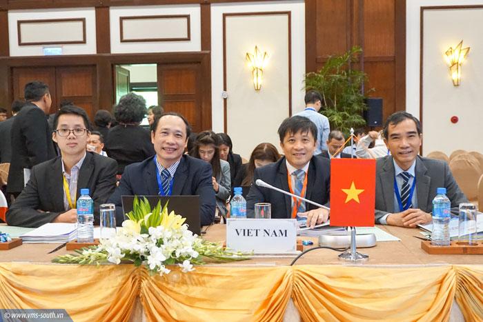 Ông Quách Đình Hùng - Phụ trách Hội đồng Thành viên VMS-South  (ngoài cùng bên phải) tham dự Hội nghị