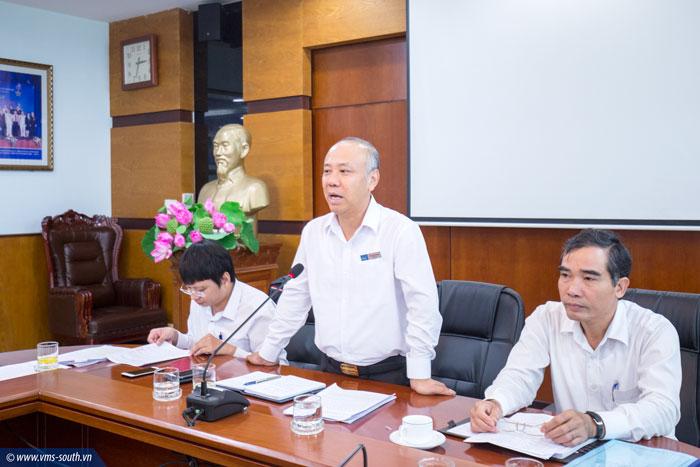 Đ/c Bùi Thế Hùng, Bí thư Đảng ủy, Tổng giám đốc Tổng công ty phát biểu giao nhiệm vụ tại Cuộc họp
