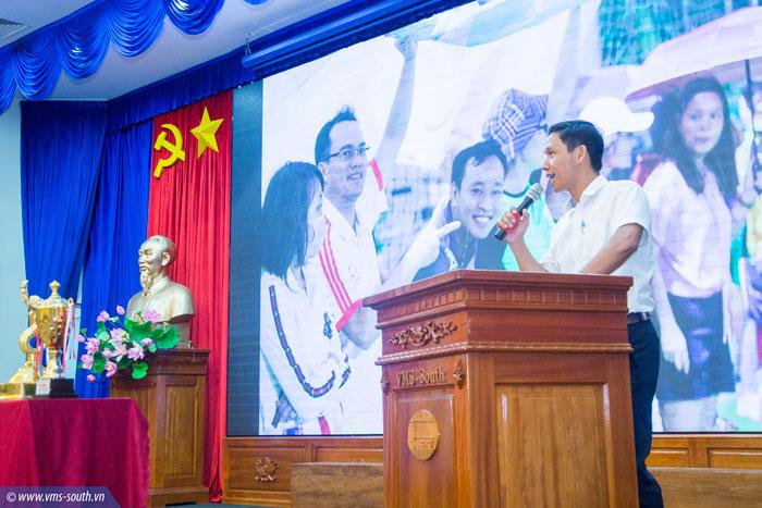 Đ/c Đào Duy Hiển, Chủ tịch Công đoàn Khối Văn phòng, Trưởng Ban tổ chức giải phát biểu bế mạc giải
