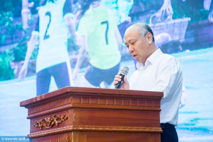 Đ/c Bùi Thế Hùng, Bí thư Đảng ủy, Tổng giám đốc Tổng công ty phát biểu tại Lễ trao giải