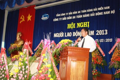 Ông Trần Đại Nghĩa - GĐ Công ty phát biểu tại Hội nghị