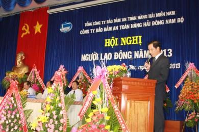 Ông Phạm Quốc Súy - Phó Tổng Giám đốc VMS-South thay mặt Ban lãnh đạo TCT phát biểu chỉ đạo tại Hội nghị