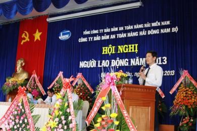 Ông Dương Thế Nam - Chủ tịch Công đoàn VMS-South phát biểu tại Hội nghị