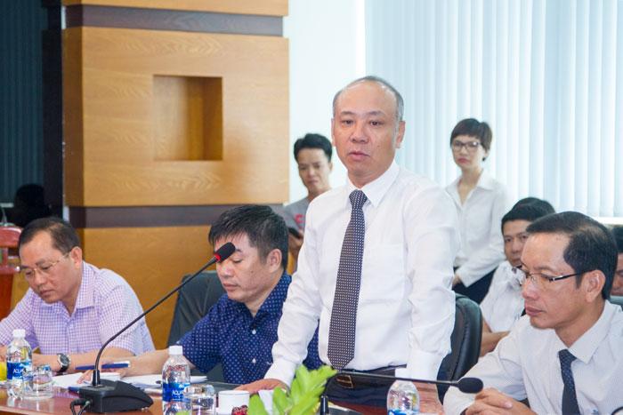 Ông Bùi Thế Hùng, tân Tổng giám đốc Tổng công ty phát biểu nhận nhiệm vụ mới