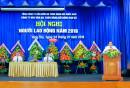 Đ/c Trần Đại Nghĩa, Giám đốc Công ty BĐATHH Đông Nam Bộ phát biểu tại Hội nghị