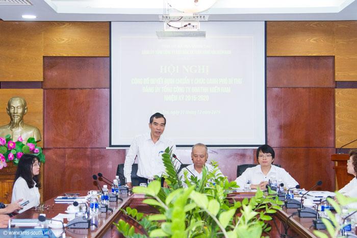 Đ/c Quách Đình Hùng phát biểu nhận nhiệm vụ mới