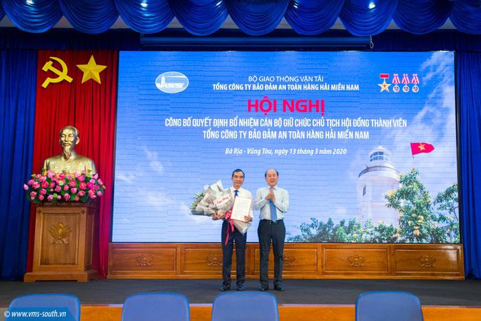 (Vietnamese) Bộ GTVT bổ nhiệm chức danh Chủ tịch Hội đồng Thành viên Tổng công ty Bảo đảm an toàn hàng hải miền Nam
