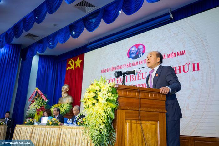 Đồng chí Nguyễn Văn Công, Ủy viên Ban Cán sự Đảng, Thứ trưởng Bộ GTVT ghi nhận tinh thần đoàn kết, trách nhiệm, sáng tạo của đơn vị.