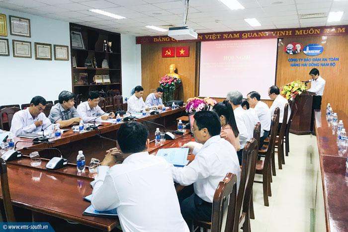 (Vietnamese) Hội nghị sơ kết giữa nhiệm kỳ thực hiện Nghị quyết Đại hội Cựu chiến binh Tổng công ty Bảo đảm an toàn hàng hải miền Nam lần thứ I, nhiệm kỳ 2017-2022