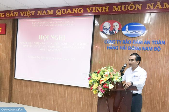 Đồng chí Quách Đình Hùng – Bí thư Đảng ủy, Chủ tịch Hội đồng thành viên Tổng công ty phát biểu tại Hội nghị