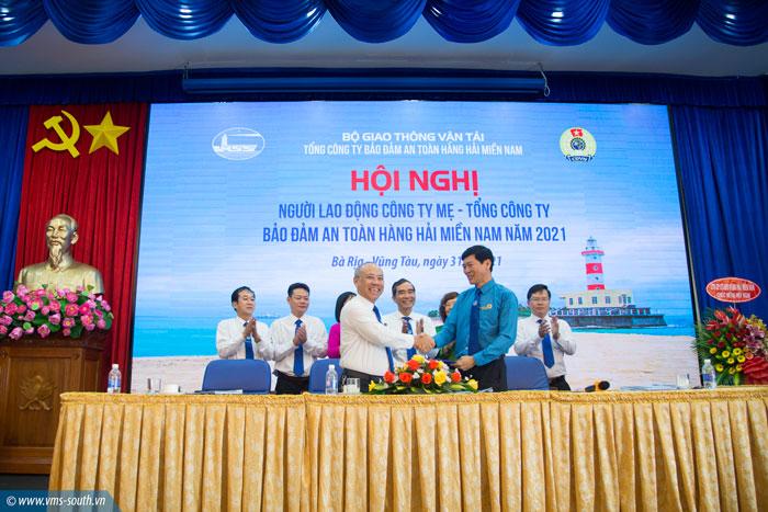 Hội nghị người lao động Công ty mẹ – Tổng công ty Bảo đảm an toàn hàng hải miền Nam năm 2021